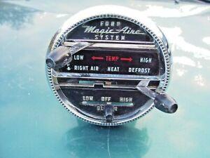 "1955 ford fairlane ""MagicAire"" heater controls. Customline, Victoria Crown sedan"