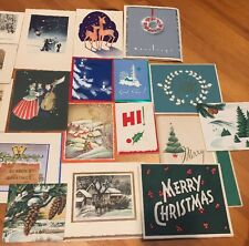 Lot of 20 Vintage Christmas Cards Some Used 1933-1958 Great Designs For Crafting