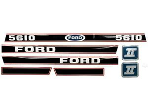 BONNET DECAL SET FOR FORD 5610 FORCE II TRACTORS