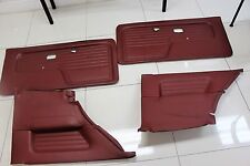 BMW E30 Cardinal Red Door Panels Front Set and Rear Set M3 3 Series 325i is OEM