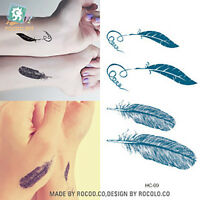 Waterproof body art Feather tattoo Sticker Arm wrist temporary tattoo transfer