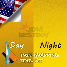 """*36""""x48"""" Reflective Yellow Vinyl Wrap Sticker Decal Graphic Sign Adhesive Film"""