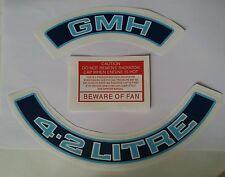 GMH 4.2 LITRE Holden HZ WB VH V8 Engine Decals