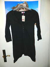 *FLASHLIGHTS* modisches schwarzes Long-Shirt in XS -Gr 32-34- zipflig fallend !!