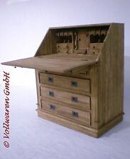 TEAK SEKRETÄR SE41-2  Teakholz antik massiv 110x90 Schreibtisch Schreibsekretär