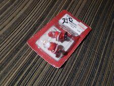 "Vintage Unopened Package Fibre-Craft Miniature 1 1/4"" Plastic Santas 2 pieces"