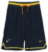 Utah Jazz Team-Issued Navy, Green, and Yellow Shorts - 2019-20 Season - Size 2XL