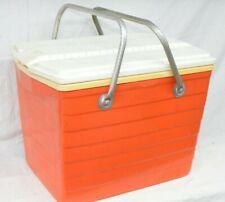 Cool King Cooler Ice Chest Hot 'N Cooler Orange Basket Brick Retro Vintage Box