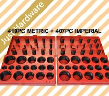 826 PCS RUBBER O RING ASSORTMENT KIT 419 METRIC & 407 IMPERIAL