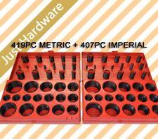 826 Pcs Rubber O Ring Assortment Kit Imperial 407 Pcs & Metric 419 Pcs