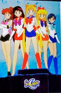 Vintage Original Sailor Moon Poster 1995 STILL IN WRAP Japan ANIME MANGA
