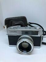 Minolta Hi-matic 7 35mm Film Camera w/ Rokkor-PF 45mm 1.8 lens & Case CAM-2029