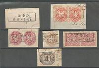Pr Vor / SCHUBIN je Ra2 auf Blankobriefstück, Briefstück Pr. m. Paar 15a, Briefs