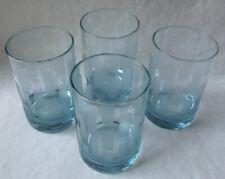 SET OF 4 ELEGANT VINTAGE LIGHT ICE BLUE OLD FASHIONED ON THE ROCKS GLASSES10oz.