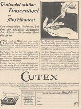 Y6485 CUTEX Handpflege - Pubblicità d'epoca - 1927 Old advertising