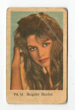 1960s Swedish Film Star Card Star PA Set # 52 French Sex Symbol Brigitte Bardot