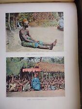 DAHOMEY:Gravure 19°in folio couleur/ LE MINISTRE DU ROI TOFFA/ LE ROI D'IFANHIM