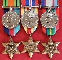 *WW2 AUSTRALIAN NORTH AFRICA TOBRUK & PACIFIC KOKODA MEDAL GROUP REPLICA ANZAC*