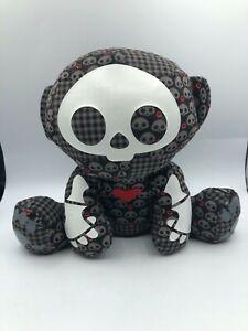 Skelanimals Marcy The Monkey Dead In Plaid Toynami Plush Stuffed Toy Animal Doll