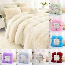 Soft Shaggy Fur Blanket Ultra Plush Decorative Blanket Winter Bed Sofa Blankets
