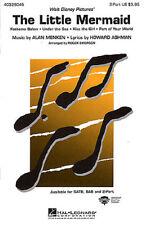 La Sirenita (medley) 2 parte coro Partituras partitura vocal