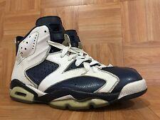 RARE🔥 Nike Air Jordan 6 VI Olympic White Midnight Navy Vars Red 11.5 384664-130