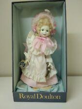 Vintage Royal Doulton Nisbet Collectors Doll Porcelain - Pink Sash