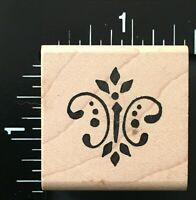 ELEGANT PATTERN CORNER Denami Design Wood Mounted Rubber Stamp