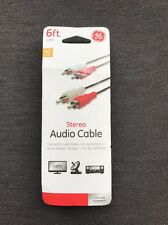 stereo audio cable connects audio/video components to a home theater receiver