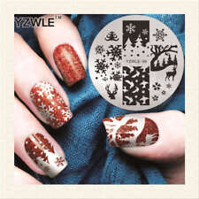 Nail Art Stamping Plates Image Plate Christmas Snowflakes Reindeer (YZWL06)