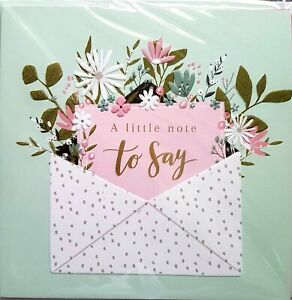 A Little Note to Say Cards 6pk, Just to say cards multipack 13.2cm x 13.2cm