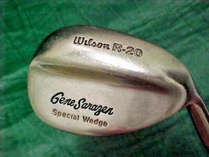 WILSON R-20 GENE SARAZEN SPECIAL WEDGE RH BROWN COATED STEEL SHAFT.
