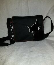 Emily the strange black cat messenger bag