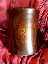 Chinese Hardwood Brush Pot 17th/18th Cent Ghost Patterns Asian scholar prov
