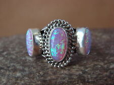 Navajo Indian Sterling Silver Handmade Opal Ring by Yazzie! Size 6