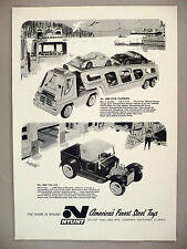 Nylint Steel Toys PRINT AD - 1967 ~ Car Carrier and Tin Liz Toy