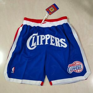 Los Angeles Clippers Men's Blue with Pockets Basketball Shorts Size: S-XXL