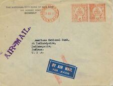 INDIA 1938 4 Annas + 5 1/2 Annas, extremely rare mixed postage Meterpost BOMBAY