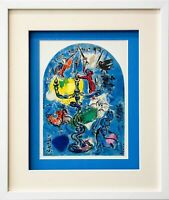 "Marc CHAGALL Lithograph LIMITED Edition ""Dan"" + Cat .Ref.c49 w/Gallery Frame"