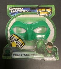 Green Lantern Movie Mask and Light Up Ring New Mattel DC Beyond Ryan Reynolds