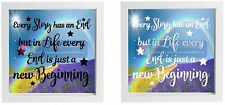 Vinyl Sticker for IKEA Box Frame EVERY STORY HAS AN END - INSPIRATIONAL QUOTE
