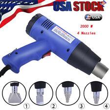 Heat G un Hot Air G un Dual Temperature+4 Nozzles Power Tool 2000W Heater G un