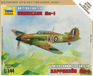 Zvezda Models 1/144 (Snap-Fit) British Fighter Hawker Hurricane Mk.I