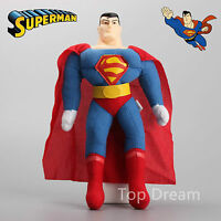 NEW DC JUSTICE LEAGUE SUPERMAN SOFT PLUSH TOY ACTION FIGURES 10'' GIFT