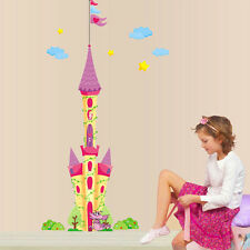 New Huge Princess Castle Wall Decal Removable Sticker Home Decor Kid's Bedroom