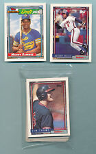 1992 Topps Team Set Cleveland Indians