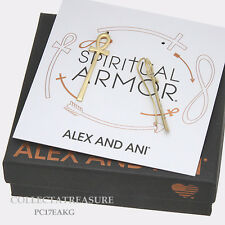 Authentic Alex and Ani Precious Metal Ankh (14kt GP) Earring
