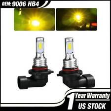 9006 HB4 LED Fog Lights Conversion Bulbs Lamp 2PCS Kit 80W 3000K Yellow