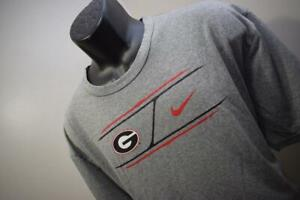 Nike Gym Shirt Dri Fit UGA Georgia Bulldogs Gray Short Sleeve Mens Size XL