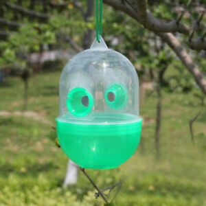 2pcs Outdoor Plastic Hanging Insect Hornet Wasp Fly Trap Catcher Pest Repeller